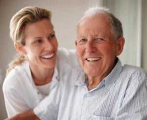 caregiver advising on choosing the right senior care franchise